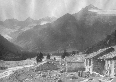Chiareggio, foto storica - Chalet Tana del Grillo